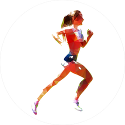 Abstract Polygonal Running Woman Sticker