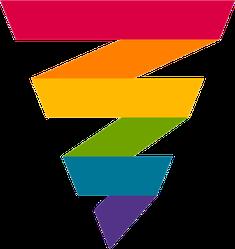 Abstract Rainbow Strip Sticker