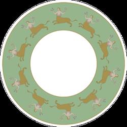 Abstract Round Centaur Decor Sticker