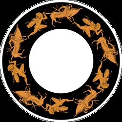 Abstract Round Texture Centaur Sticker