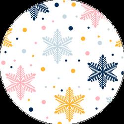 Abstract Seamless Snowflake Pattern Geometric Sticker