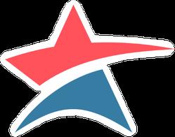 Abstract Star Logo Sticker