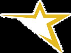 Abstract Star Vector Sticker