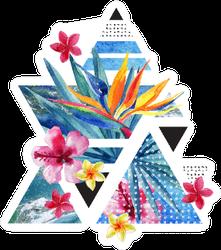 Abstract Summer Geometric Bird Of Paradise Sticker