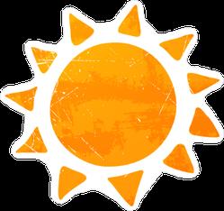 Abstract Summer Sun Sticker