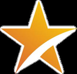 Abstract Sun Star Logo Sticker