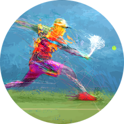 Abstract Tennis Player Painting Sticker