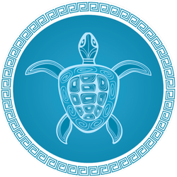 Abstract Turtle Sticker