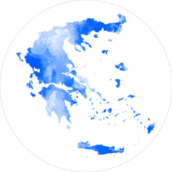 Abstract Watercolor Map Of Greece Sticker