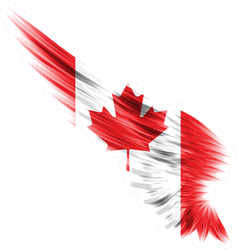 Abstract Wing With Canada Flag Sticker