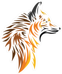 Abstract Wolf Profile Sticker