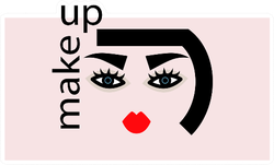 Abstract Woman With Makeup Sticker