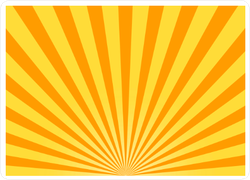 Abstract Yellow Sun Rays Background Sticker