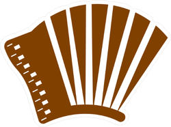 Accordion Icon Sticker