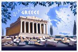 Acropolis Hill In Athens Sticker