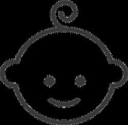 Adorable Baby Icon Sticker
