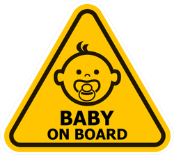 Adorable Baby on Board Triangle Sticker