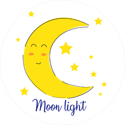Adorable Blushing Moon Sticker