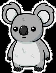 Adorable Cartoon Koala Sticker