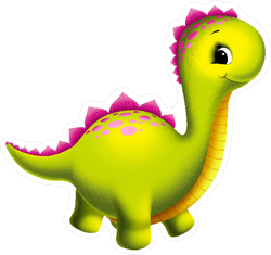 Adorable Dinosaur Sticker
