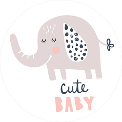 Adorable Elephant Sticker