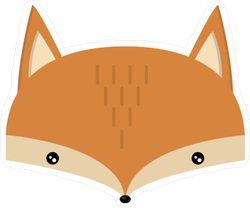 Adorable Fox Head Sticker