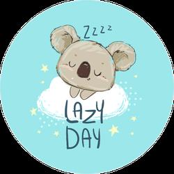 Adorable Lazy Day Sleeping Koala Sticker