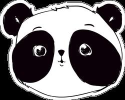 Adorable Panda Illustration Sticker