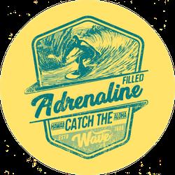 Adrenaline Surfing Sticker