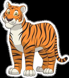 Adult Funny Tiger Sticker