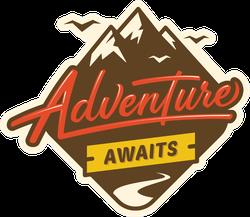Adventure Awaits Mountain Sticker