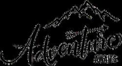 Adventure Awaits Typography Mountain Sticker