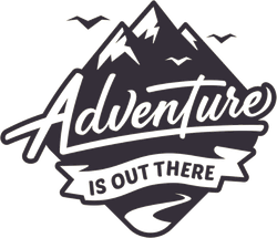 Adventure Is Out There Mountain Badge Sticker