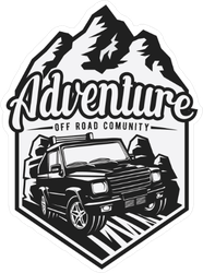 Adventure Off Road Club Emblem Sticker