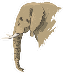 African Elephant Painting Sticker