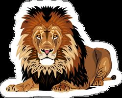 African Lion Lying Sticker