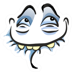 Ahhh Smiling Troll Face Meme Sticker