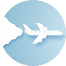 Airplane Flying In The Sky , Paper Art Style Sticker