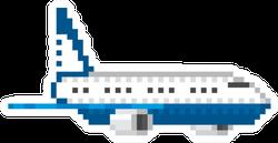 Airplane Mail Plane Pixel Art Sticker