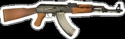 AK-47 Machine Gun Sticker