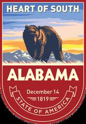 Alabama Banner Sticker