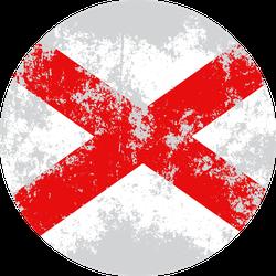 Alabama Grunge State Flag Sticker