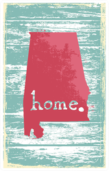 Alabama Nostalgic Rustic Home. Sticker