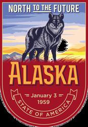 Alaska Banner Sticker