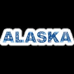 Alaska Lettering National Ethnic Ornament Sticker