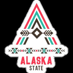 Alaska State Ethnic Logo Sticker