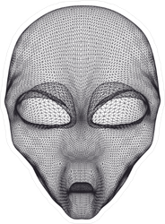 Alien Head Mesh Sticker