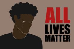 All Lives Matter Tears Sticker