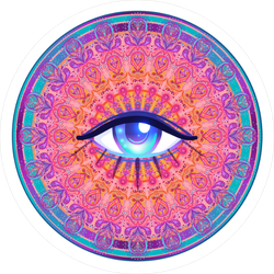 All Seeing Eye Boho Sticker