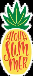 Aloha Summer Pineapple Sticker